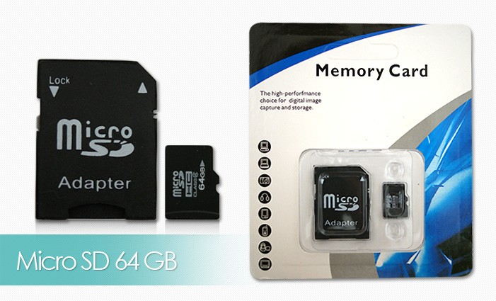 Micro SD Karta 32GB/64GB + adaptér - Micro SD Karta 64GB