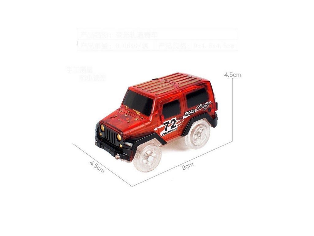Autíčko k svítící autodráze - Červená