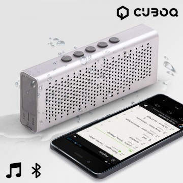 Bluetooth Reproduktor Waterproof CuboQ Metal