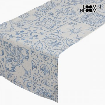 Ubrus Bavlna a polyester Modrý (135 x 40 x 0,05 cm) by Loom In Bloom