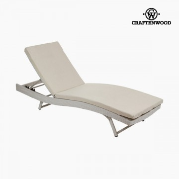 Sun-lounger (194 x 28 x 65 cm) Ratan Polyester by Craftenwood