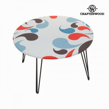 Round centre table with comma design by Craftenwood