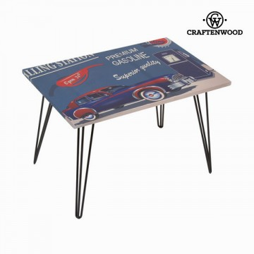 Centre table with blue car design by Craftenwood