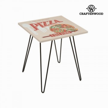 Square table with pizza design béžová by Craftenwood