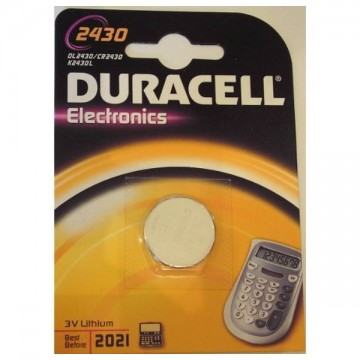 Lithium Button Cell Battery DURACELL DRB2430 CR2430 3V