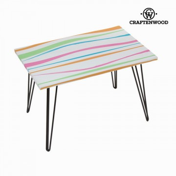 Rectangular table with stripes by Craftenwood