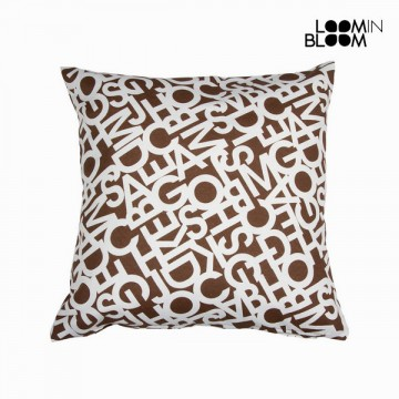 Abc chocolate cushion by Loom In Bloom