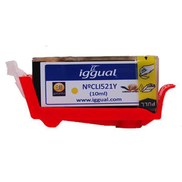 Recyklovaná Inkoustová Kazeta iggual Canon PSICLI521Y Žlutý