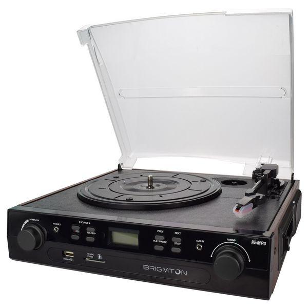 Gramofon + nagrywarka kasetowa BRIGMTON BTC-406REC USB SD / MMC