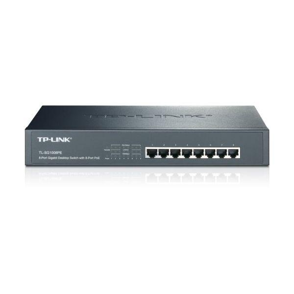 Cabinet Switch TP-LINK TL-SG1008PE 8P Gigabit PoE+ 124 W 13