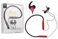 Bezdrátová bluetooth sluchátka s mikrofonem V88 - Červené