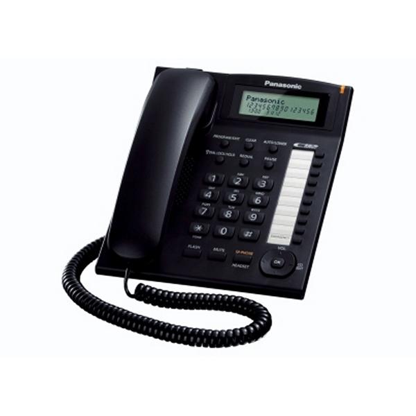 Telefon Stacjonarny Panasonic KX-TS880EXB LCD Czarny