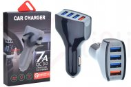 Nabíjecí adaptér do auta na 4 USB 7A LZ-KC08 - Černý