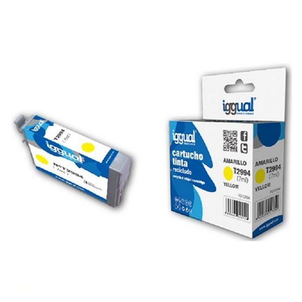 Recyklovaná Inkoustová Kazeta iggual CCICRC0304 IGG313749 Žlutý