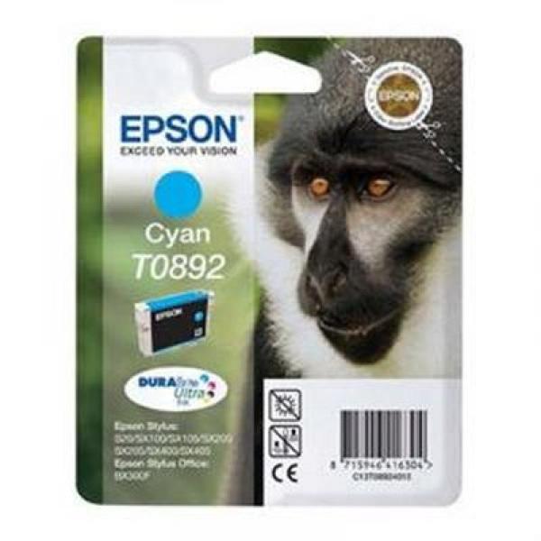 Originální inkoustové náplně Epson C13T089240 Azurová