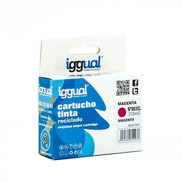Tusz z Recyklingu iggual IGG314937 HP 903 Magena