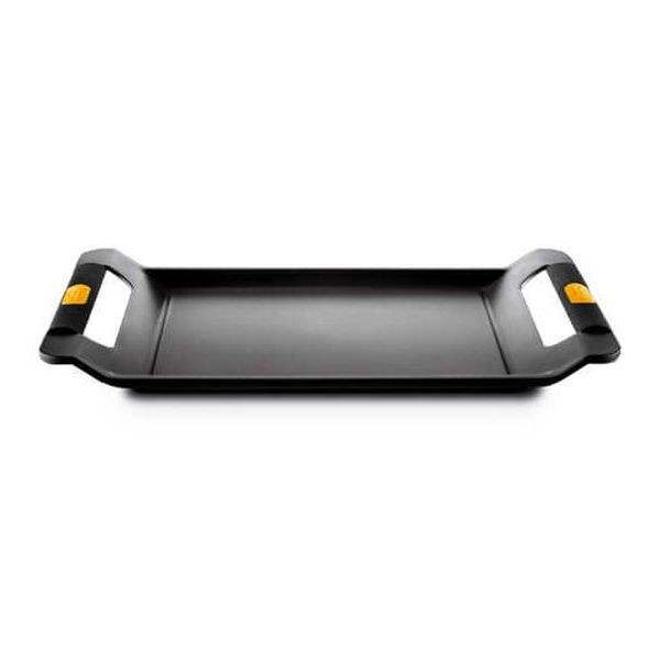 Flat grill plate Castey IP45 45 cm Černý