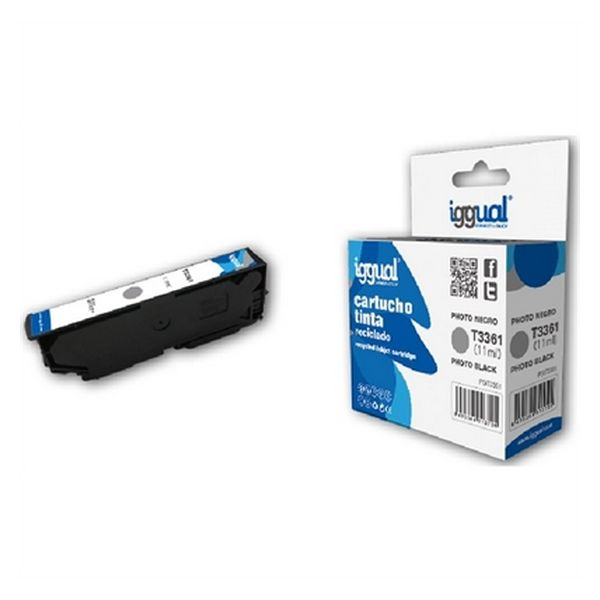 Recyklovaná Inkoustová Kazeta iggual CCICRC0306 IGG313725 Černý