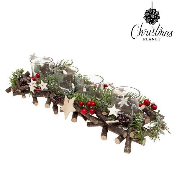 Świeczniki Christmas Planet 2381 Drewno