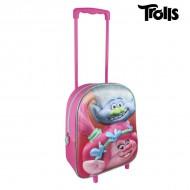 Plecak szkolny 3D z kółkami Trolls 8072
