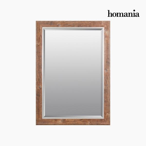 Lustro Żywica syntetyczna Szkło fazowane Drewno (76 x 2,5 x 106 cm) by Homania