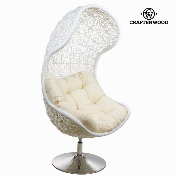 Židle Ocel Ratan Bílý (127 x 83 x 74 cm) by Craftenwood