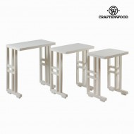 Set de 3 mese cuib albe - Serious Line Colectare by Craftenwood