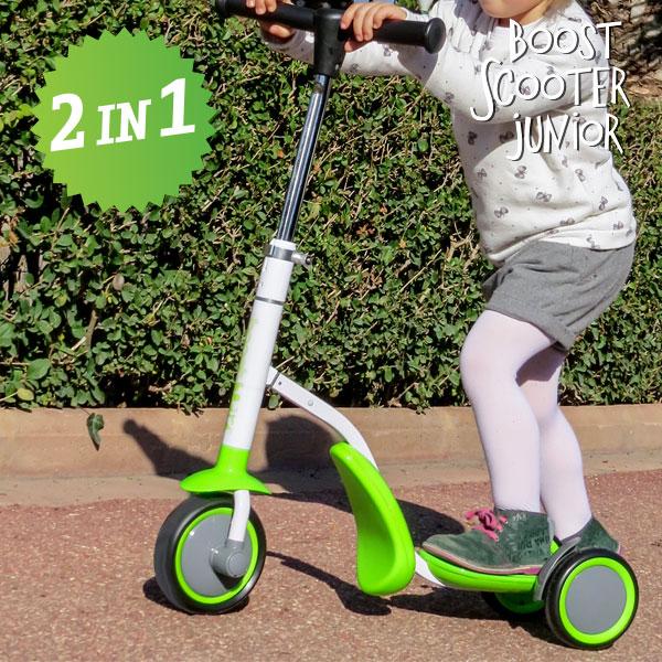 Koloběžka-Tříkolka Boost Scooter Junior 2 v 1 (3 kola)