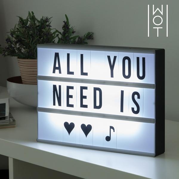 LED Tabule s Podsvícením Wagon Trend (30 x 22 cm)