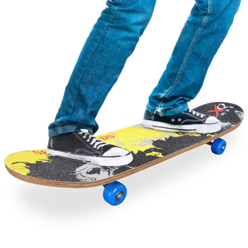 Dřevěný Skateboard (4 kolečka)