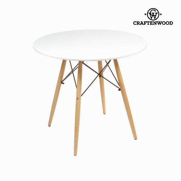 Stolik Mdf Drewno bukowe Biały (80 x 80 x 75 cm) by Craftenwood