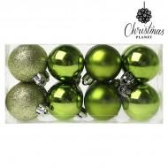 Vianočné gule Christmas Planet 6479 4 cm (16 uds) Zelená