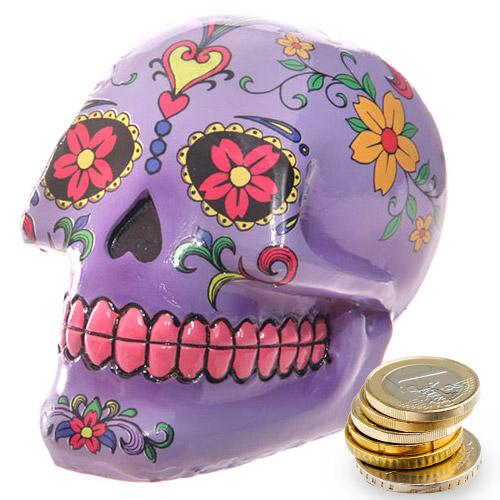 Skarbonka czaszka