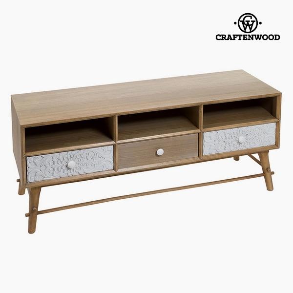 TV stolek Mdf a borovice Bílý (3 zásuvky) (120 x 41 x 51 cm) by Craftenwood