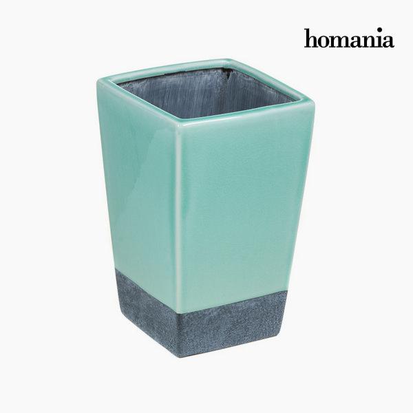 Ceramiczny turkusowy wazon by Homania