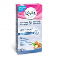 Voskové Depilační Pásky pro Citlivou Pokožku Veet Easy Gelwax (20 kusů)