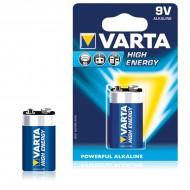 Alkalická batéria Varta 9 V 580 mAh High Energy Modrá
