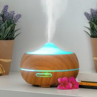 Aroma difuzér - zvlhčovač vzduchu LED Wooden-Effect