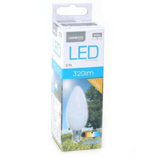 LED Žárovka Svíčka Omega E14 4W 320 lm 4200 K Přirozené světlo