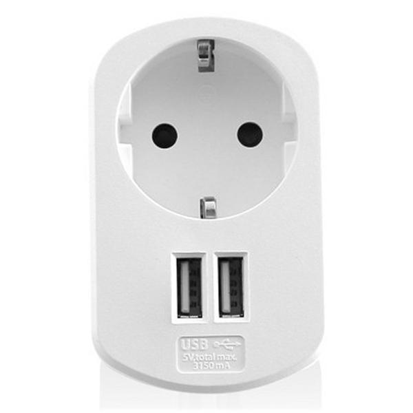 Kontakt naścienny z 2 portami USB eSATA Ewent EW1211 3,1 A