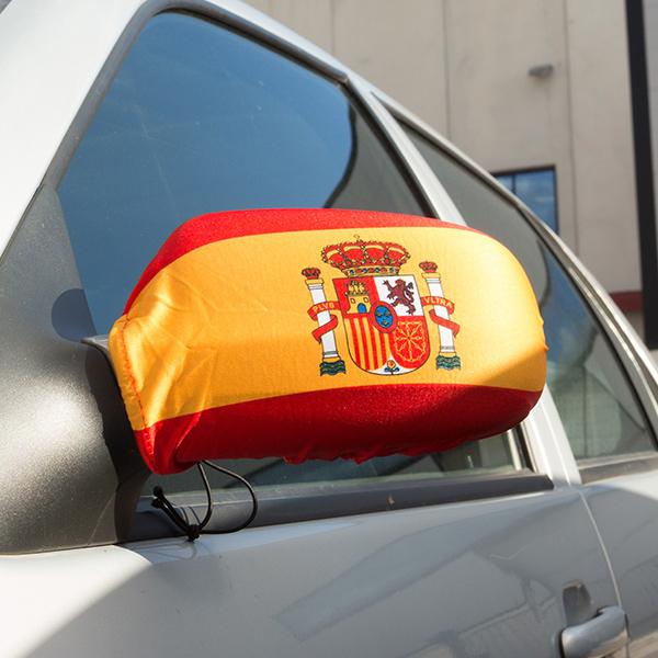 Pokrowiec na Lusterko z Hiszpańską Flagą (2 sztuki)