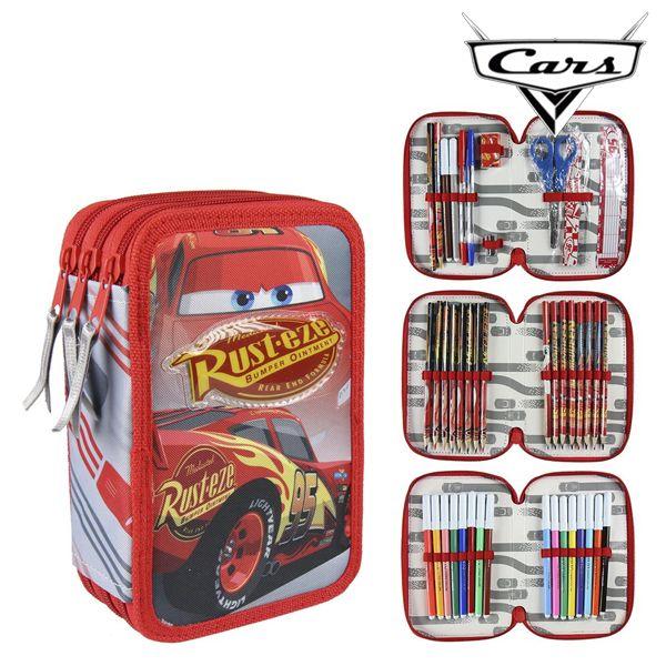 Piórnik potrójny Cars 58539 Czerwony