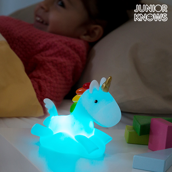 Barevná LED Noční Lampička Jednorožec Junior Knows