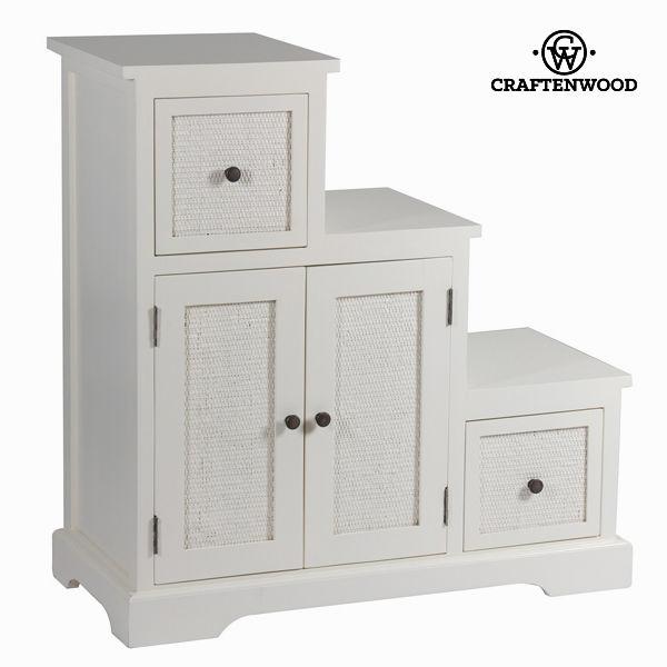 Doplňkový nábytek Dřevo mindi Bílý (88 x 37 x 90 cm) - Let's Deco Kolekce by Craftenwood