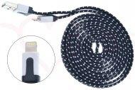 Opletený nabíjecí a synchronizční lightning kabel pro zařízení Apple (2m) - Černý