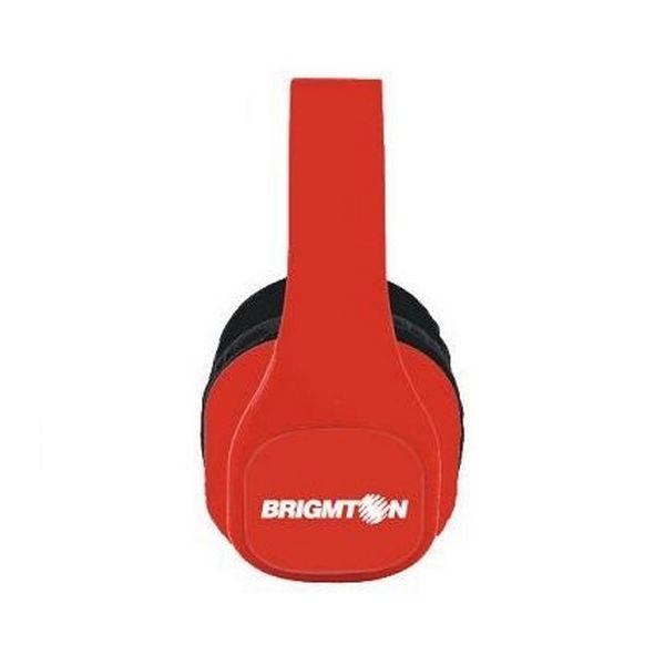 Słuchawki BRIGMTON BAU-M4-R MP3 SD Czerwony