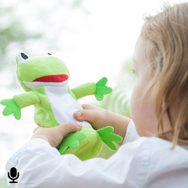 Plyšová Žába s Nahrávací a Přehrávací Funkcí