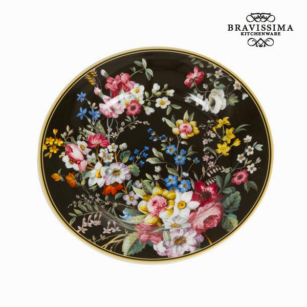 Talerz Porcelana Czarny (Ø 19 cm) - Kitchen's Deco Kolekcja by Bravissima Kitchen