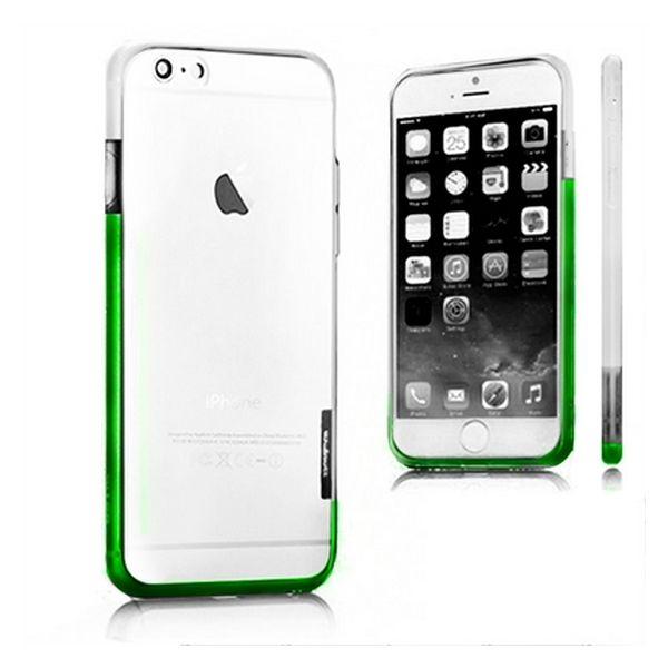 Dwukolorowy Zderzak Iphone 6 Plus X-ONE 109963 Biały Kolor Zielony