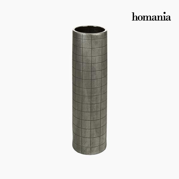 Wazon Ceramika Srebro (16 x 16 x 59 cm) by Homania